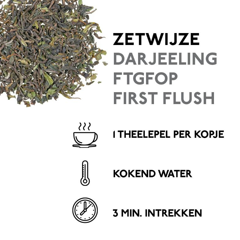 Darjeeling FTGFOP First Flush (100 gr.) Kaldi losse zwarte thee